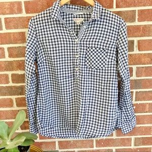 Merona Gingham Blouse Sz Medium